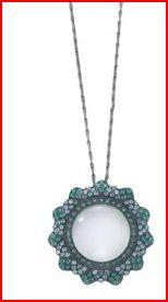 Teal Crystal Pendant Magnifier